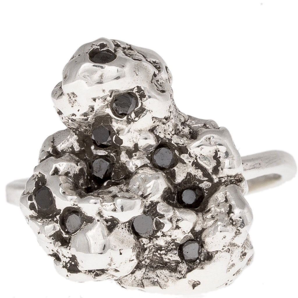 Black Diamond Meteor Ring
