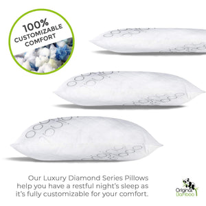 2 Pack Shredded Memory Foam Adjustable Pillows