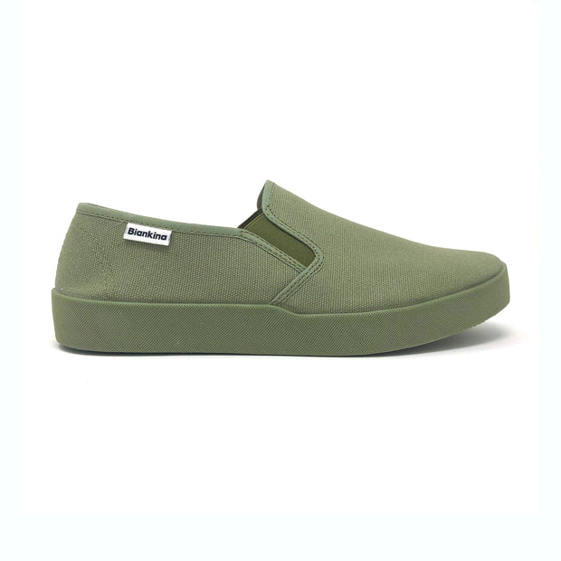 Barcelona Canvas Slip-on Sneaker - Olive