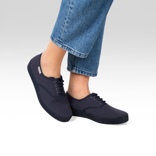 Capri Canvas Sneaker - Navy