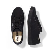 St.Tropez all black women's vegan canvas tennis shoes