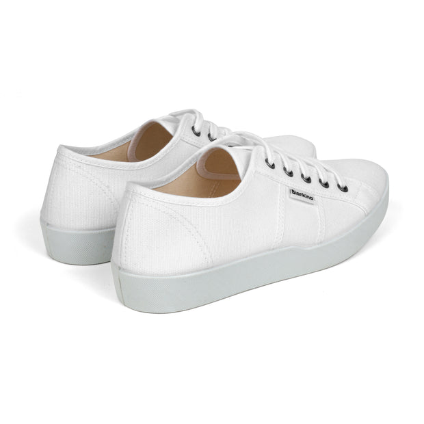 St.Tropez white women's vegan canvas tennis shoes
