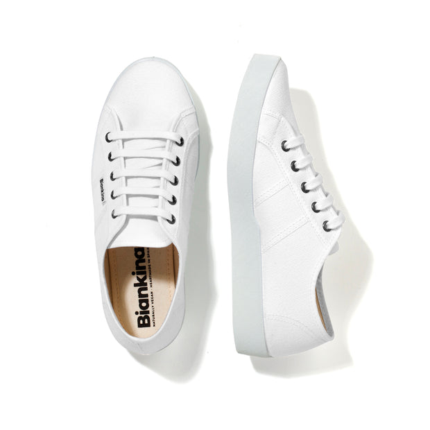 St.Tropez Canvas Sneaker - White