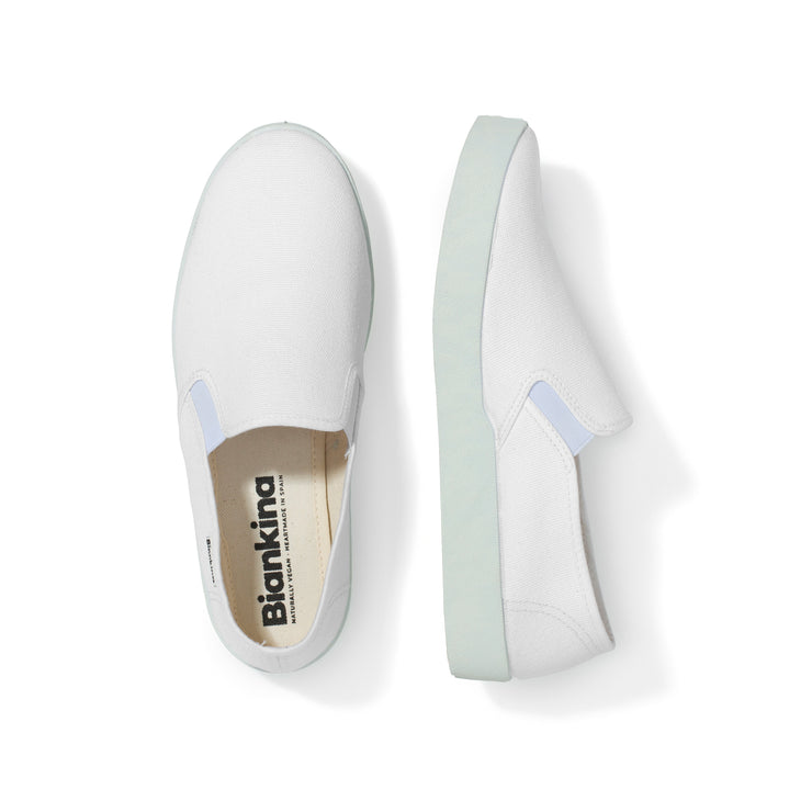 Barcelona Canvas Slip-on Sneaker - White