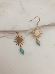 Turquoise Sun Drop Earrings
