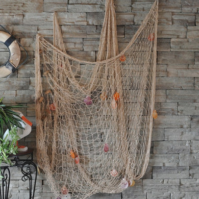 Mediterranean Wind Nautical Fishing Net Seaside Wall Beach Party Sea Shells Home Garden Decor