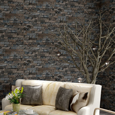 Beibehang Retro Brick Antique Green Brick Red Wall paper Boutiques Chinese Restaurant papel de parede 3d wallpaper