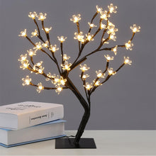 Load image into Gallery viewer, LED Crystal Cherry Blossom Tree Light Night Lights Table Lamp Christmas Fairy Wedding Decoration Lighting Luminarias de mesa