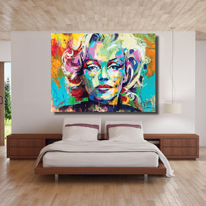Marilyn Monroe Portrait Oil Painting Abstract Modern Wall Painting on Canvas Art Prints for Living Room Home Decor