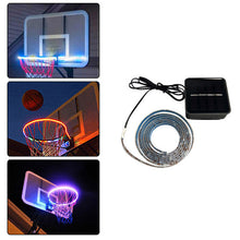 Load image into Gallery viewer, 1 PCS LED Basketball Hoop Light Basketball Rim Changing  Induction Lamp Shoot Hoops Solar Light Playing At Night LED Strip Lamp
