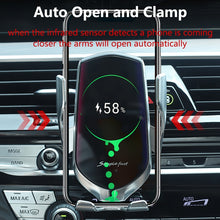 Load image into Gallery viewer, Car Wireless Charger Holder for iPhone X XS XR 8 Plus Mount 10W Qi Fast Charging Auto Clamp Wireless Car Phone Charger Suction