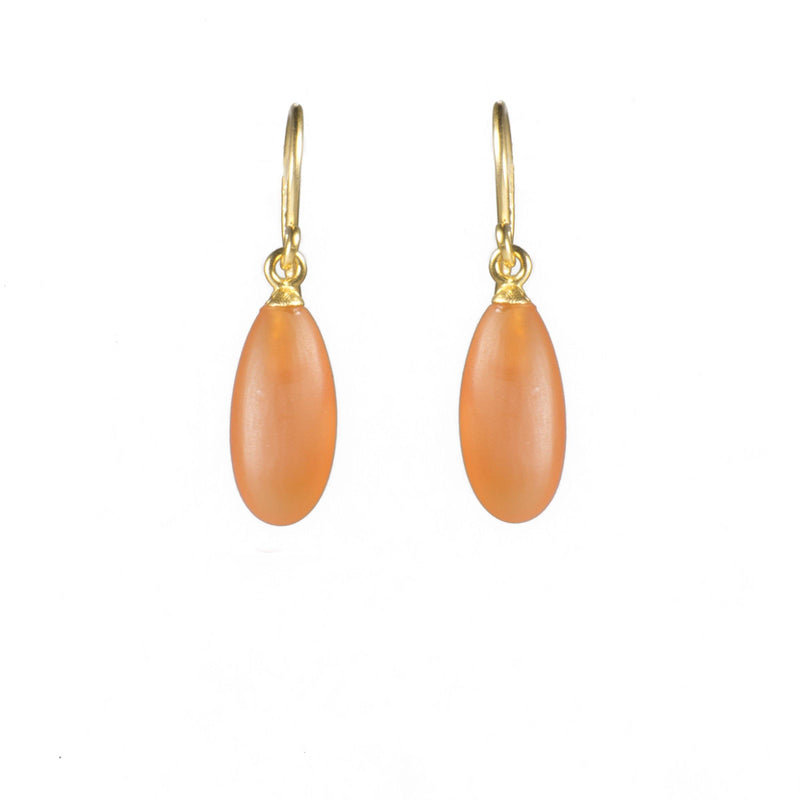 MATTE CARNELIAN FRENCH WIRE EARRINGS FAIR TRADE 24K GOLD VERMEIL