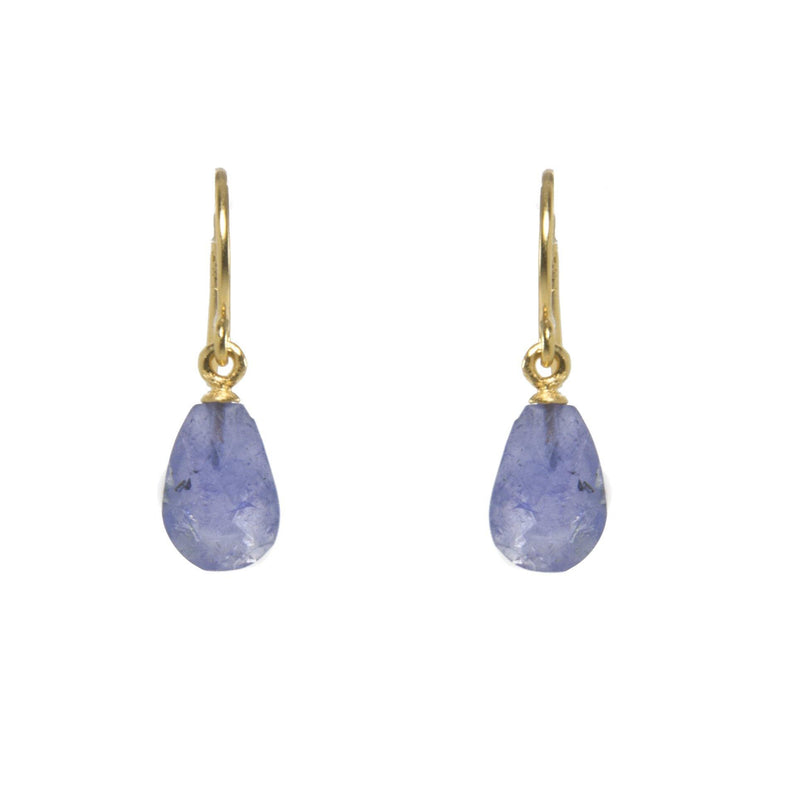 E01-170 EARRINGS- FACETED TANZANITE FAIR TRADE 24K GOLD VERMEIL