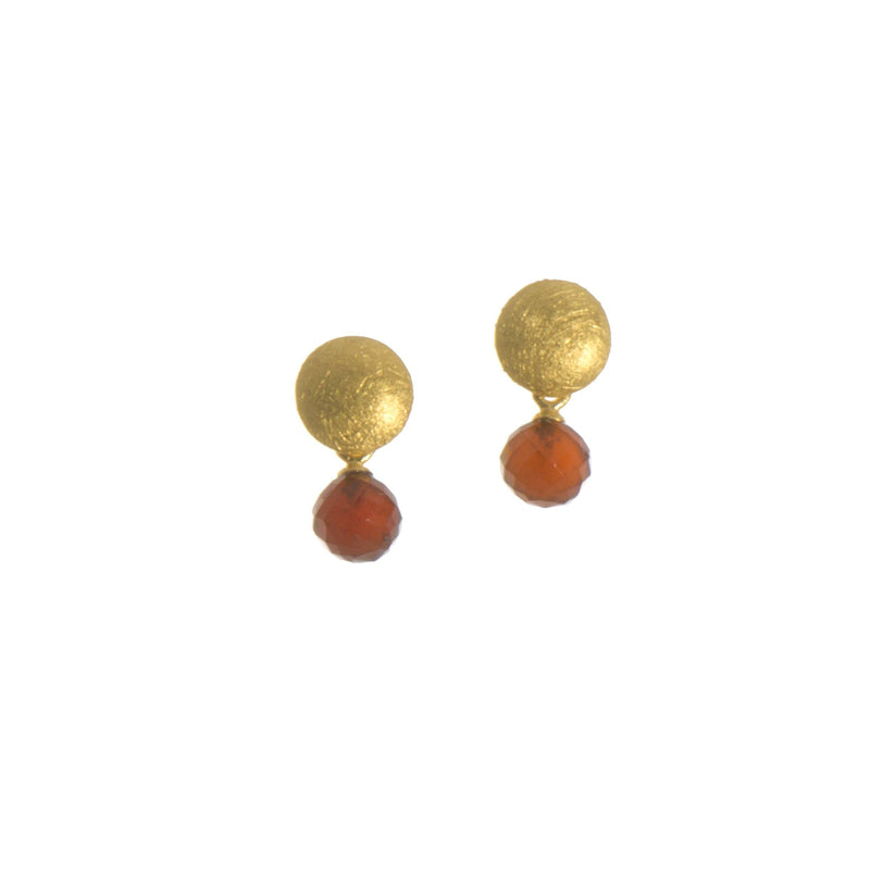 GLOBE ROUND FACETED GARNET(E032-062)
