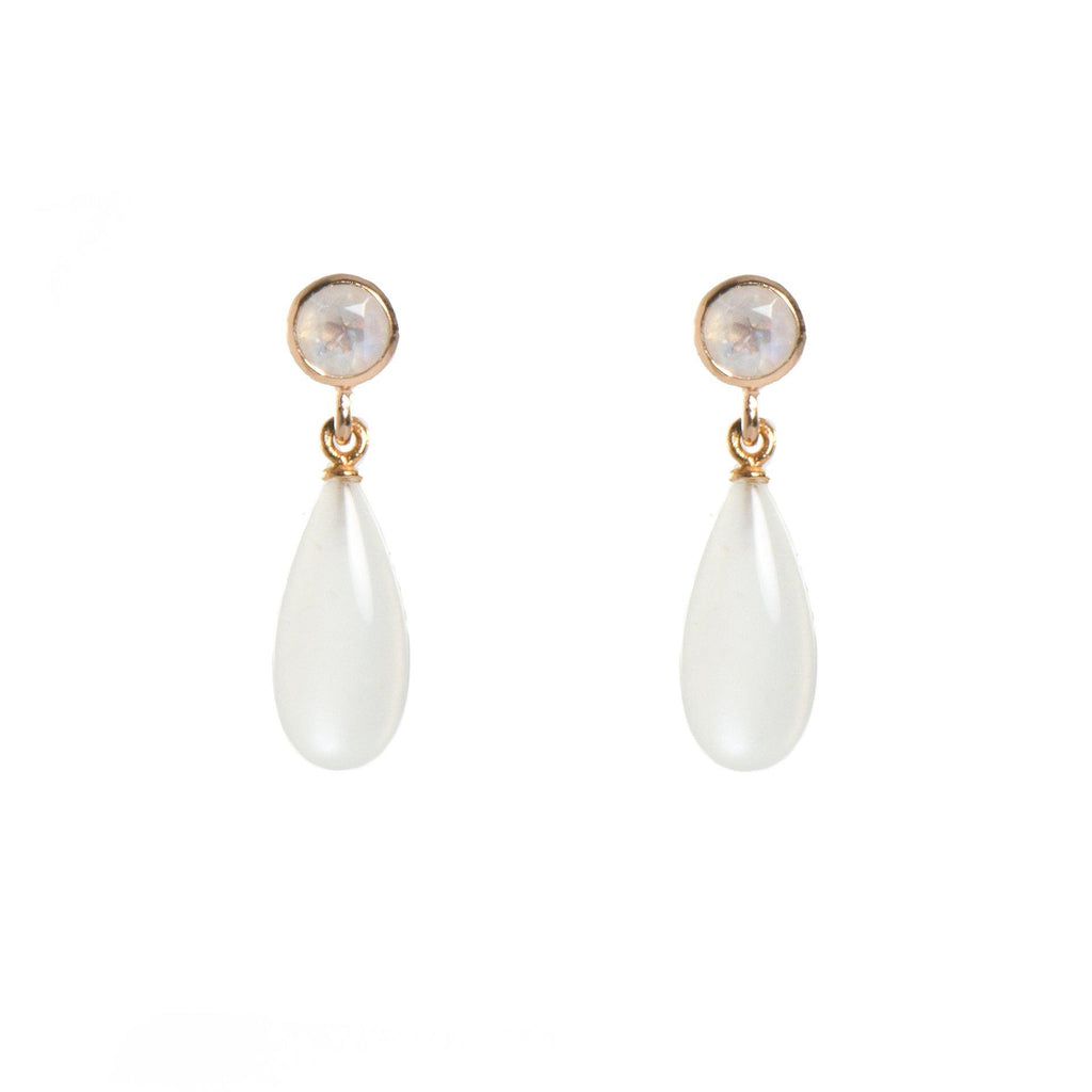 E0510-01 RAINBOW MOONSTONE EARRINGS FAIR TRADE 24K GOLD VERMEIL