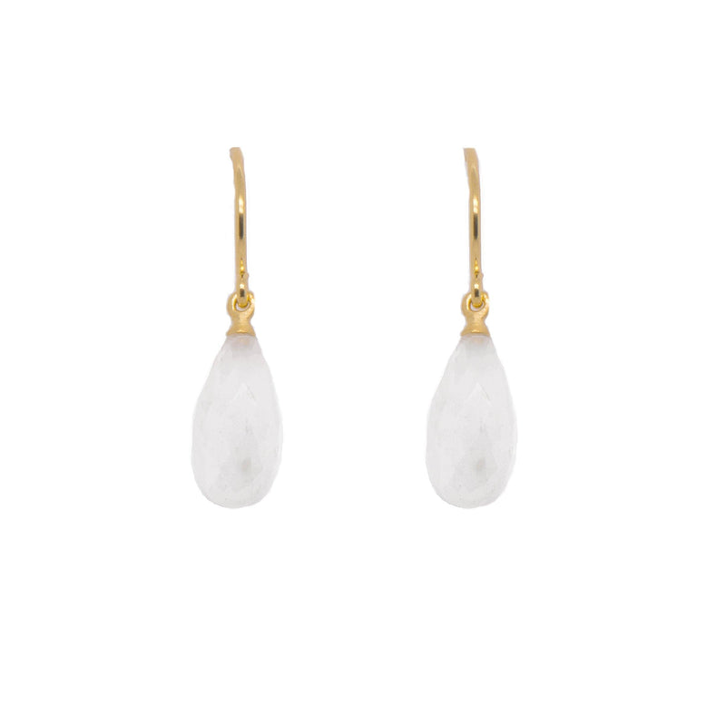 E1VRM JOYLA SIGNATURE WIRE EARRING RAINBOW MOONSTONE