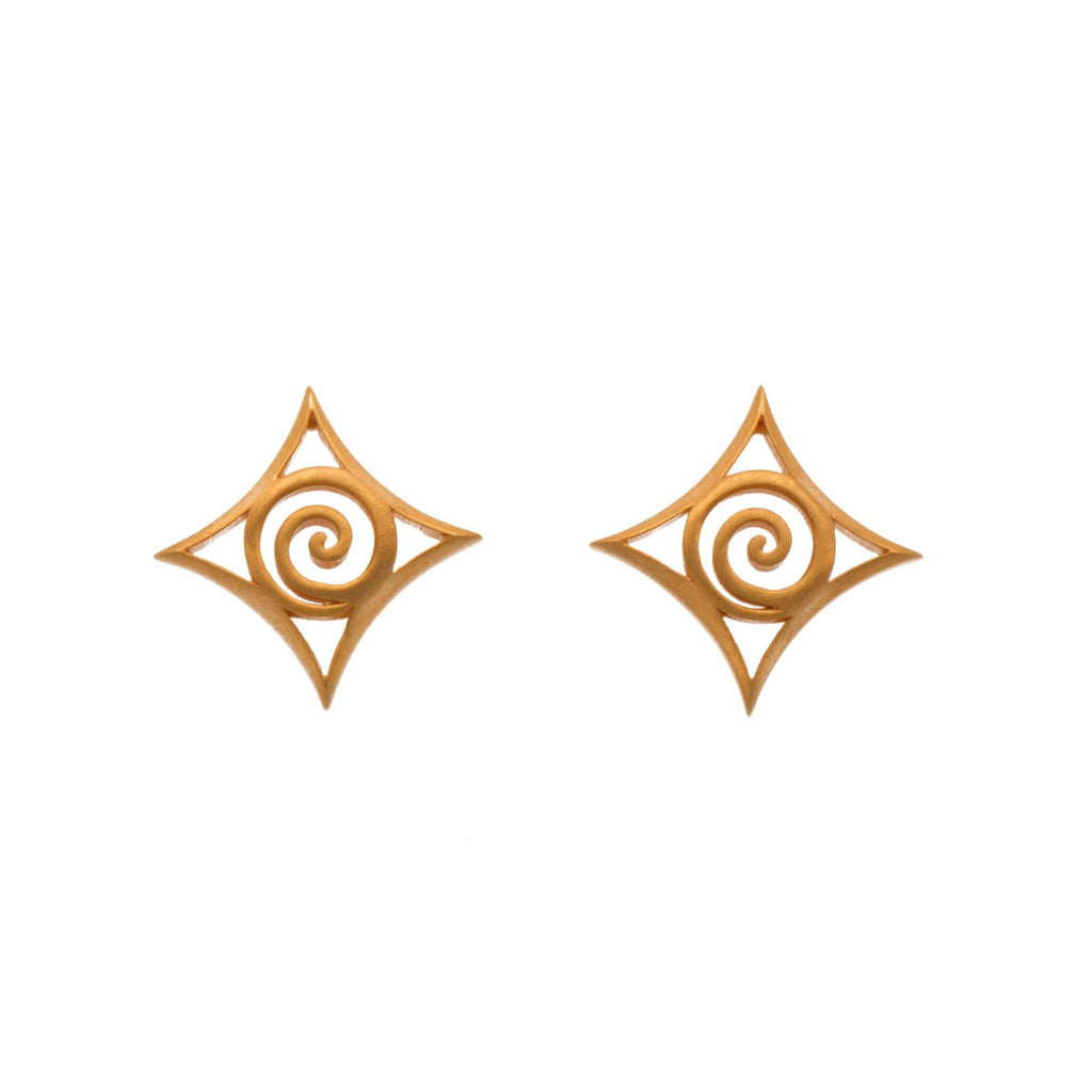 GRE1P EARRINGS- GRATITUDE POST 24K GOLD VERMEIL