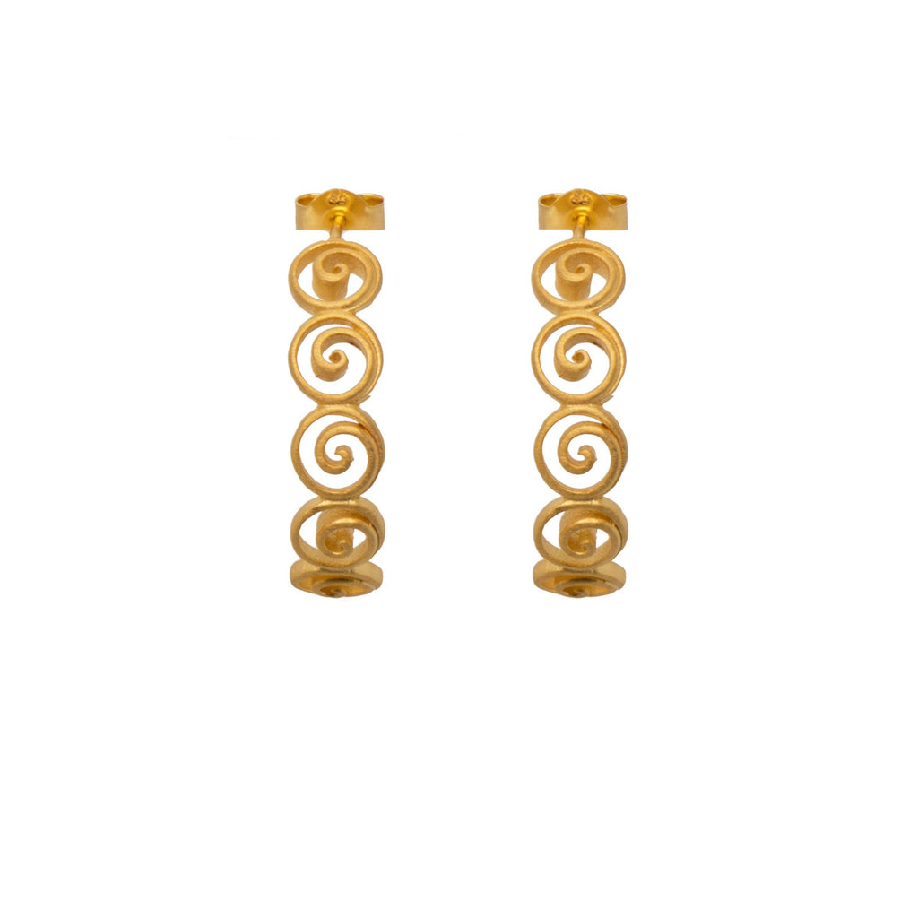 GRATITUDE SWIRL HOOP EARRINGS - Joyla Jewelry