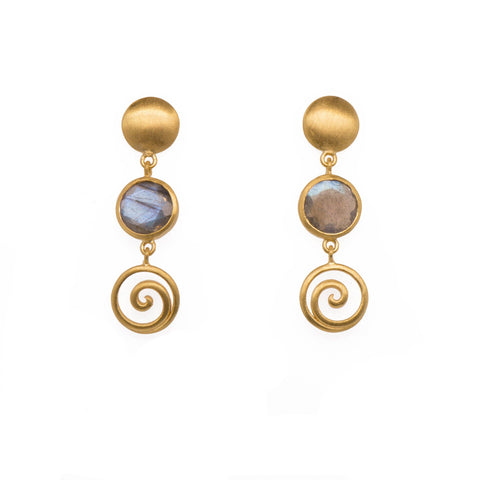 GRATITUDE SWIRL AND MOON EARRINGS - Joyla Jewelry