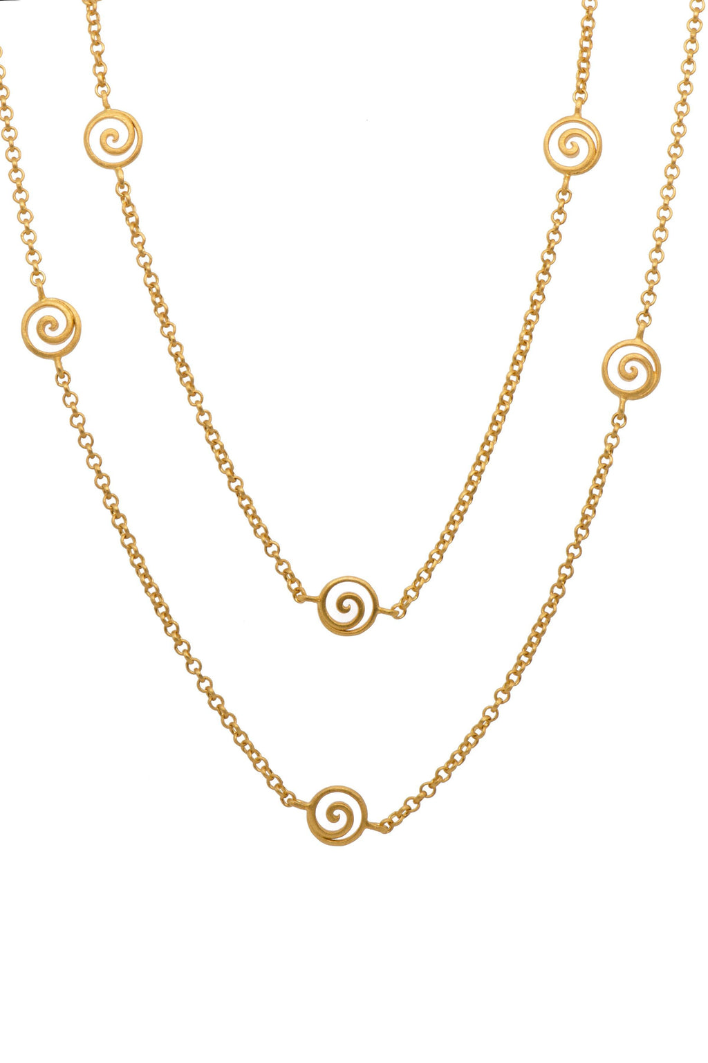 "GRATITUDE SWIRL NECKLACE 36"" - Joyla Jewelry"