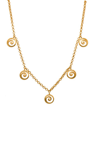 "GRATITUDE MINI SWIRL NECKLACE 16""/18"" - Joyla Jewelry"