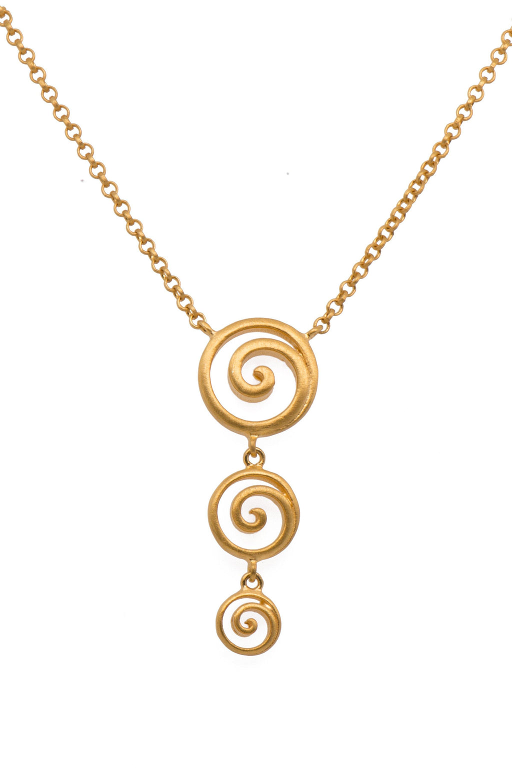 GRATITUDE TRIPLE SWIRL NECKLACE