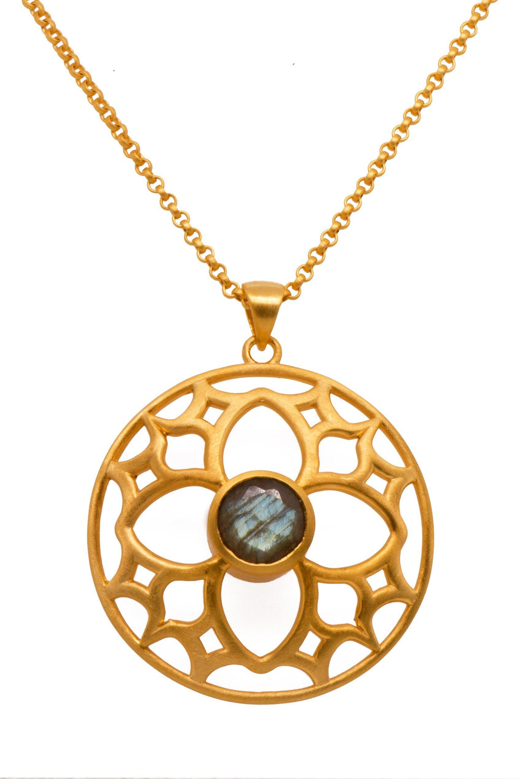 PENDANT- JOYFUL CIRCLE 40MM LABRODORITE (JOYFULP1LAB)