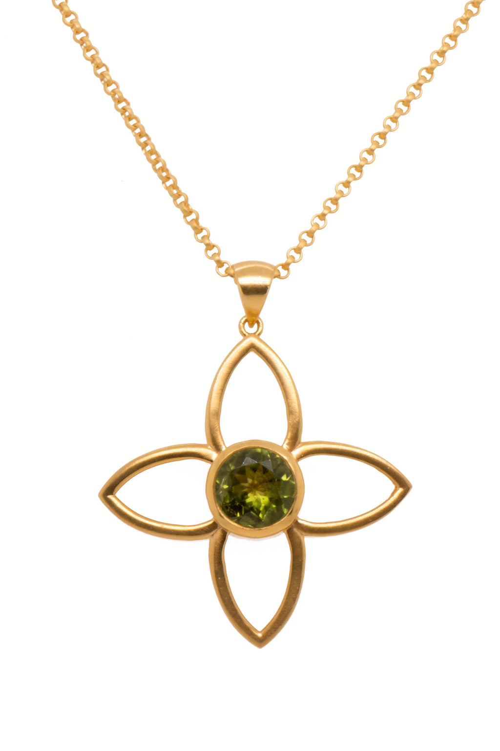 PENDANT- JOY FLOWER 40MM PERIDOT (JOYP1PERI)