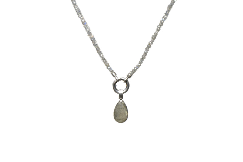 N031-0901 NECKLACE- 3MM LABRADORITE 31.5
