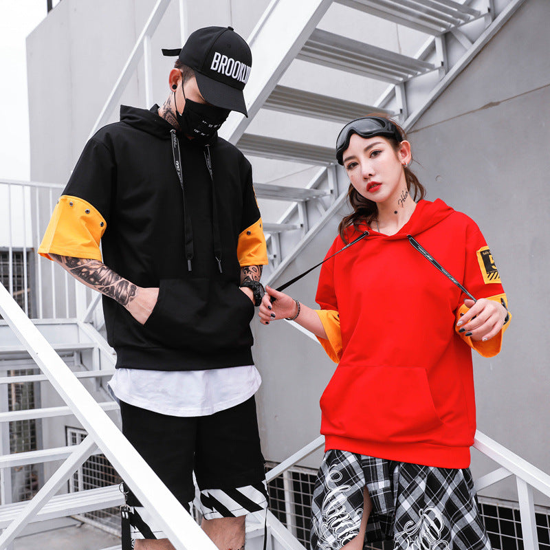 Color Cool Block Couple 90s Rapper's T-Shirt