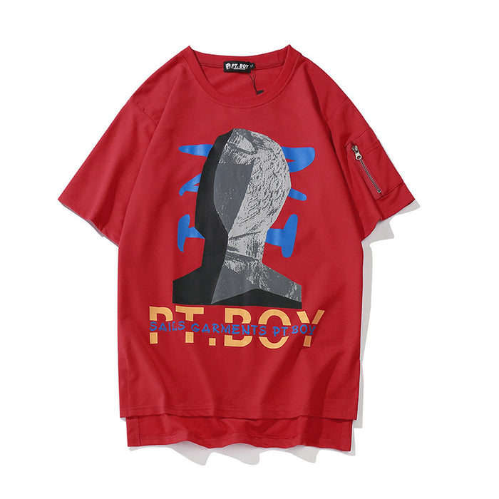 J-Pop PT-Boy Street Fashion Letter Graphic Aesthetic Tee