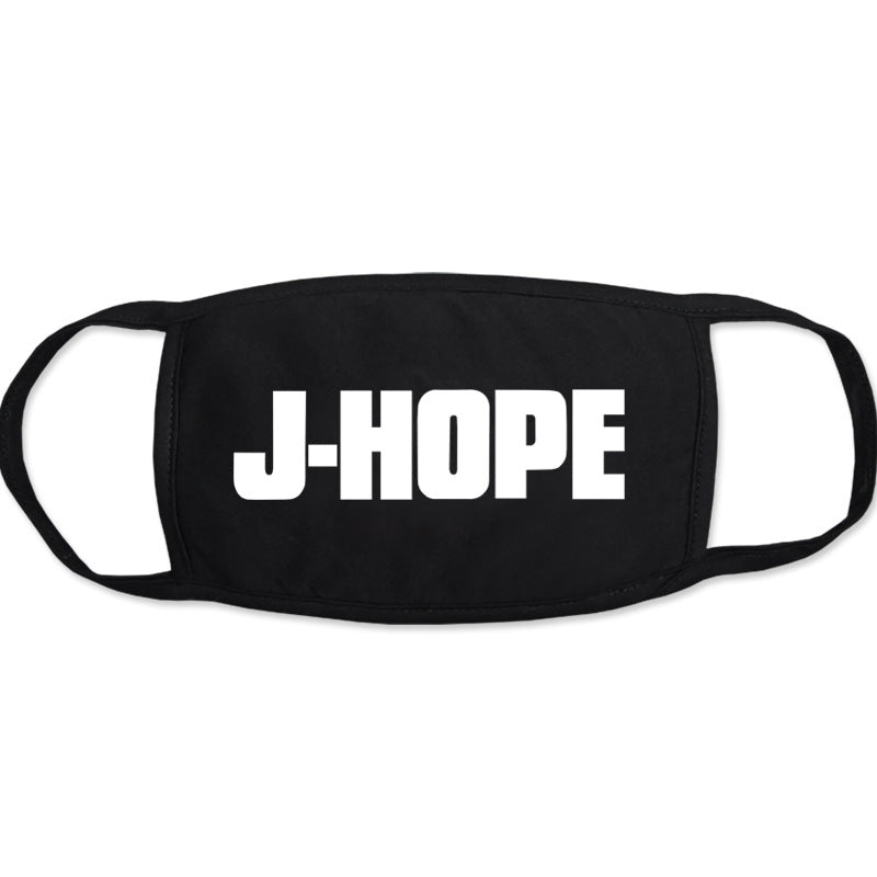 BTS J-Hope Merch - BTS J-Hope Name On Mask