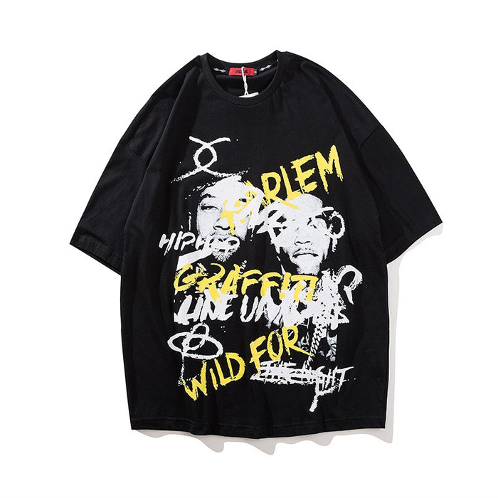 Wild For You Rapper Hip Hop Oversized Polo T-Shirts