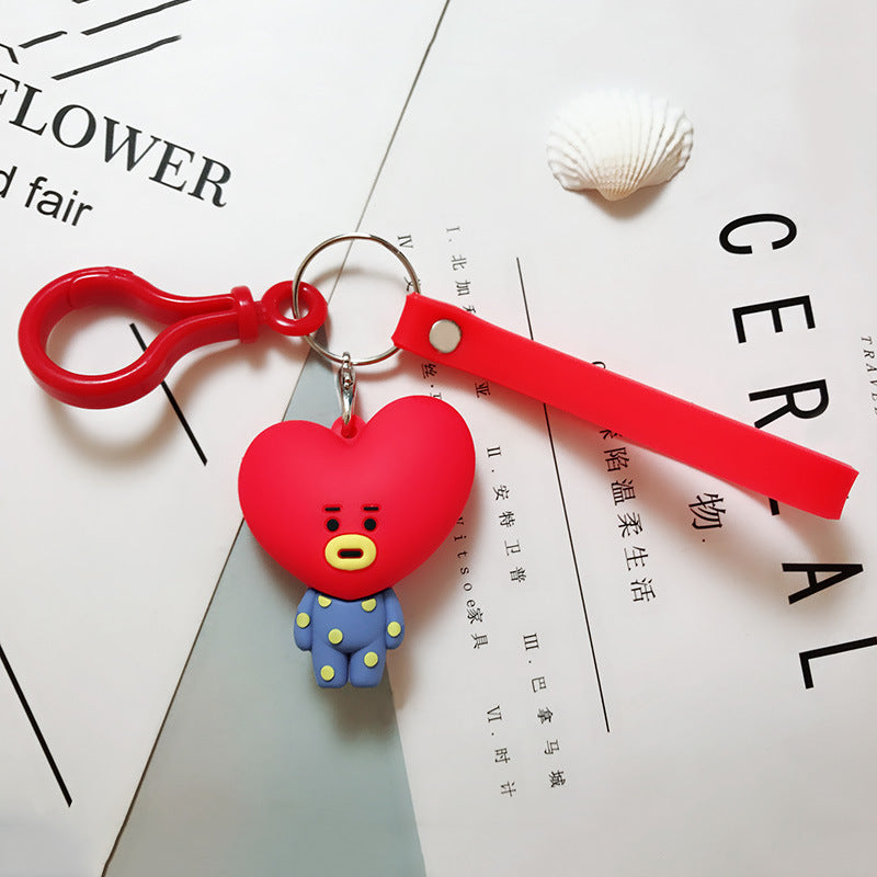 BT21 Official Merchandise  -Tata Keychain Ring