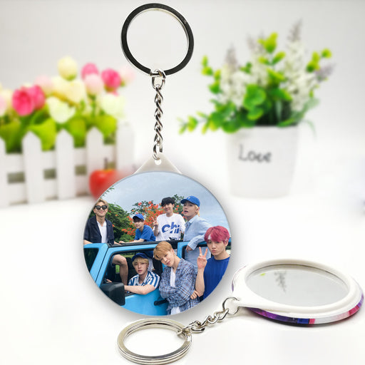 BTS Official Merchandise  -BTS Mirror Keychain Ring