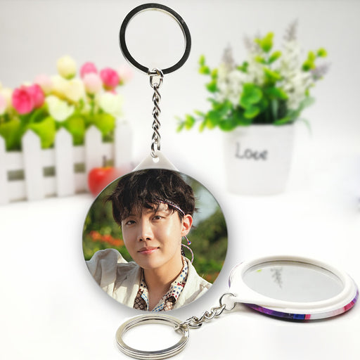 BTS RM Official Merchandise  - J-Hope Mirror Keychain Ring