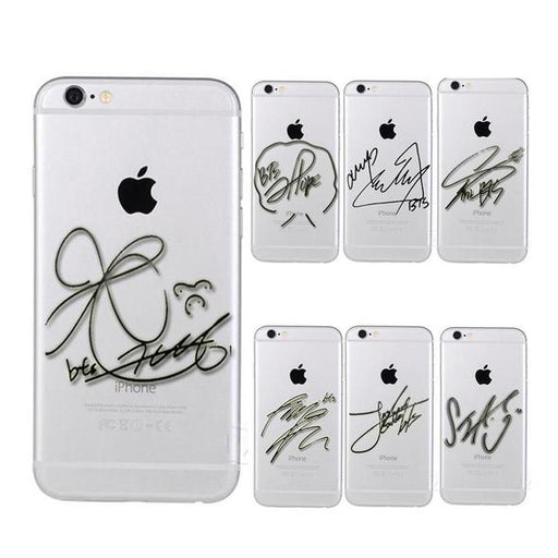 """BTS SIGNATURE"" IPHONE CASES"