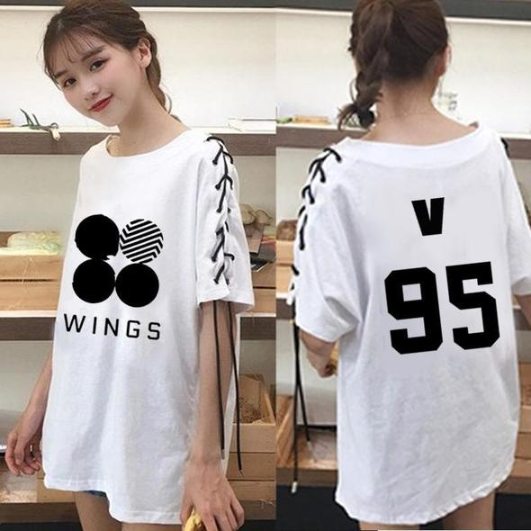 """BTS WINGS LACED"" T-SHIRT"