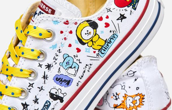 [LIMITED COLLABORATION] CONVERSE X BT21 CHUCK TAYLOR ALL STAR WHITE LOW OFFICIAL