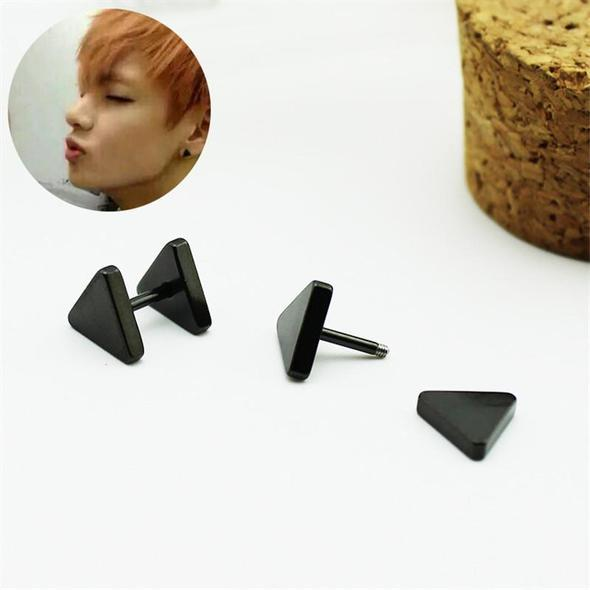 "BTS ""TRIANGLE STUD"" EARRINGS"