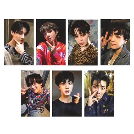 7 Pcs/Set New KPOP BTS Photo Card Bangtan Boys LOVE YOURSELF ARMY BOMB Album  Photocard