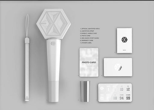 EXO Light Stick White Concert Lightstick XIUMIN SUHO LAY BAEKHYUN