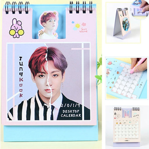 Kpop BTS Love Yourself Answer Army Mini Desktop Calendar