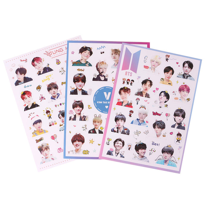 3 Pages / Set TS Stickers Album Paper Stickers For Diary Photo Album