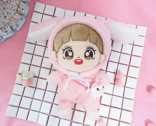 EXO / BIGBANG BUNNY HOODED Shirt & Romper Sets for Doll of  20cm CHANYEOL BAEKHYUN SUHO KPO