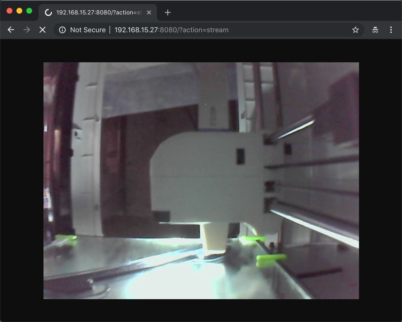 Flashforge Adventurer 3 - How to stream video from build-in camera
