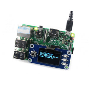 128x64, 1.3inch OLED display HAT for Raspberry Pi, Arduino, STM32 w buttons and joystick
