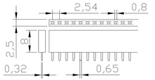 "Load image into Gallery viewer, Set 40 Pin FEMALE HEADER 0.1"" 2.54mm straight connector Arduino"