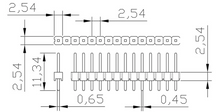 "Load image into Gallery viewer, Set 40 Pin MALE HEADER 0.1"" 2.54mm straight breakaway connector Arduino"