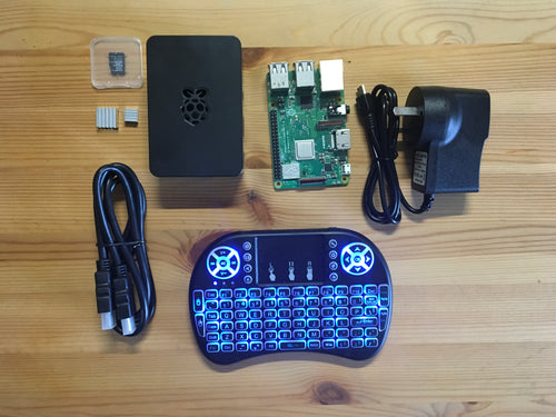 Raspberry Pi 3B+ Kit w Wireless Keyboard